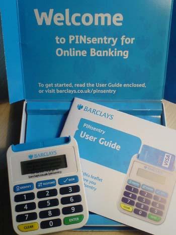 barclays bank pinsentry card reader
