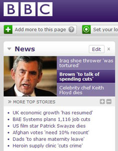 BBC website 15th Sept 2009