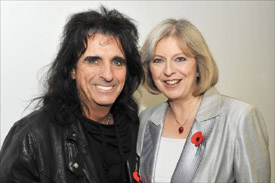 Alice Cooper & Theresa May