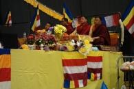 10-Buddhist monks listening to the speeches