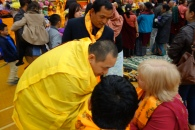 6-The Dupsing Rinpoche arrives and greets Reading's Mayor