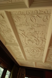 9-A Mary Watts executed ceiling panel in the Red Room