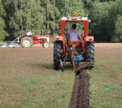 Cutting the first furrow