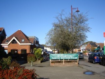 Lightwater village square before changes to the treescape