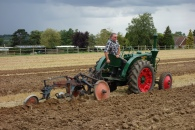 8-Steve Morris and his 1940's 2-stroke tractor