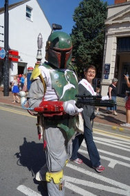 A Star Wars bounty hunter on the prowl