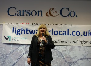The Mayor attends Lightwater business networking event