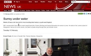 BBC News report on Surrey under water