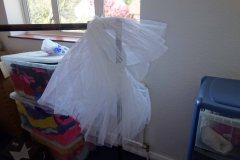 A tutu in the costume room