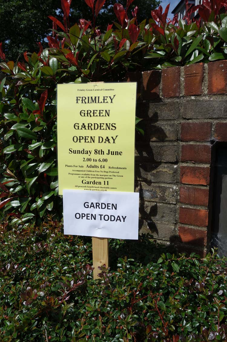 Frimley Green Open Gardens Day Garden Owner Orders Good Weather | Lightwater