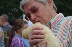 21-Lennie an albino Ferret
