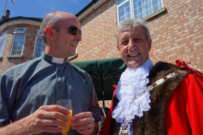 4-Lightwater's Vicar - Rev Mark chats with the Mayor