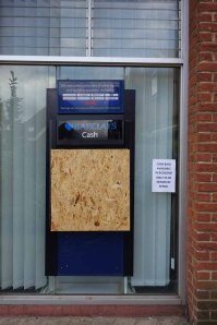 Barclays bank Lightwater ATM outside view