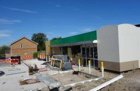 Lightwater BP Petrol Station in early July