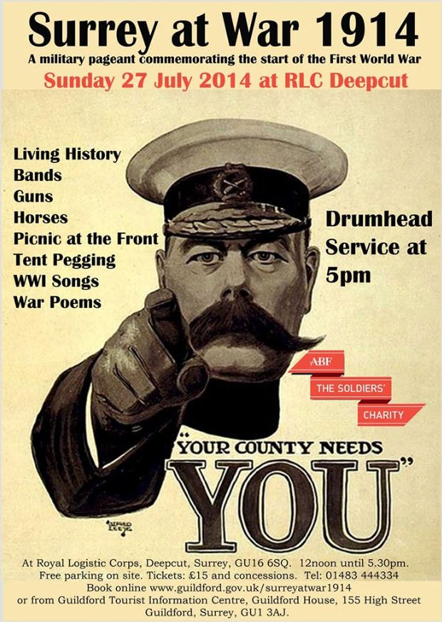 Not to be missed military pageant commemorating the start of WW1 ...