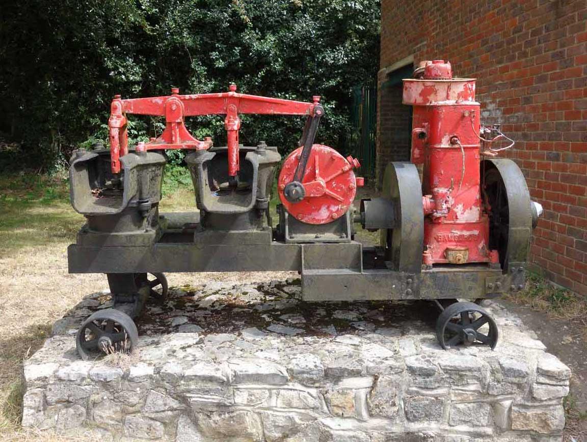 antique sludge pump