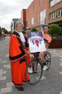 The Mayor and ToB cyclist