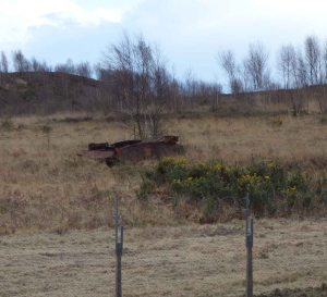 Rusty tank carcass
