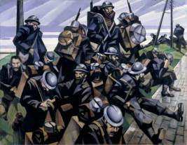C R Nevinson, French Troops Resting, 1916, IWM