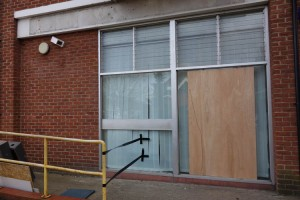 ex-Barclays Bank boarded up