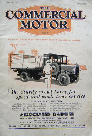 F-1928 advert for 70 cwt lorry
