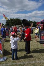 11-Guardsman entertains children