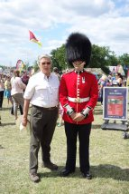 12-With a soldier of the Irish Guards