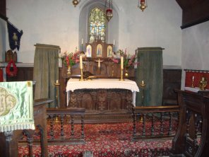 13-The Chapel's Jacobean altar made from an overmantel