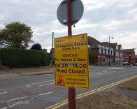 1-Road repairs sign