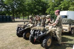 10-13 Air Assault Regiment's quad bikes