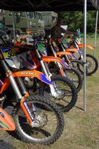 17-Enduro Motorcyle Display Team bikes