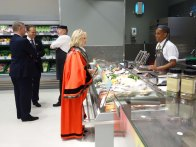 3-Surrey Heath Mayor, Rob Collins and Partner at the Fish counter_2