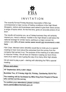 Frimley Business Assoc