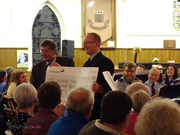 4-Graham Atterbury presents the cheque