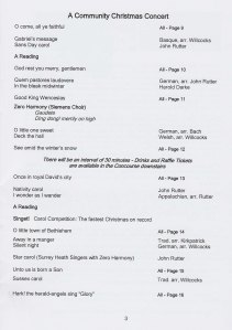 Surrey Heath Singers Christmas Concert