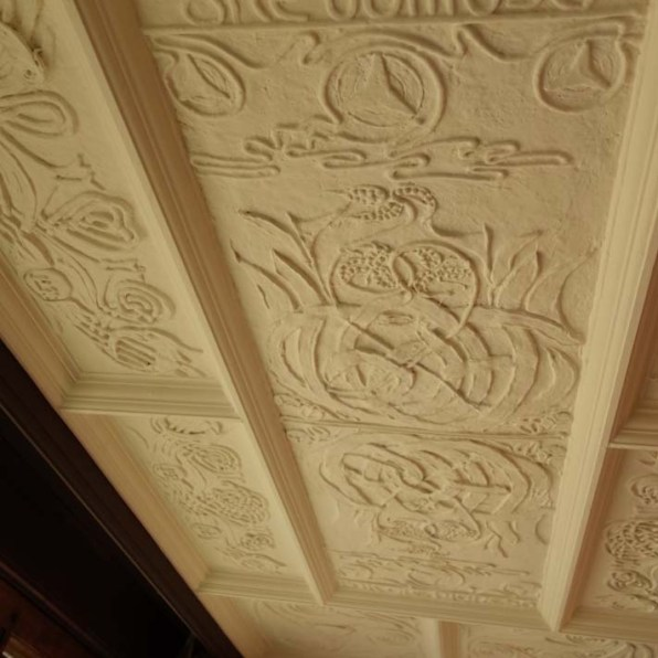 3-A Mary Watts executed ceiling panel in the Red Room
