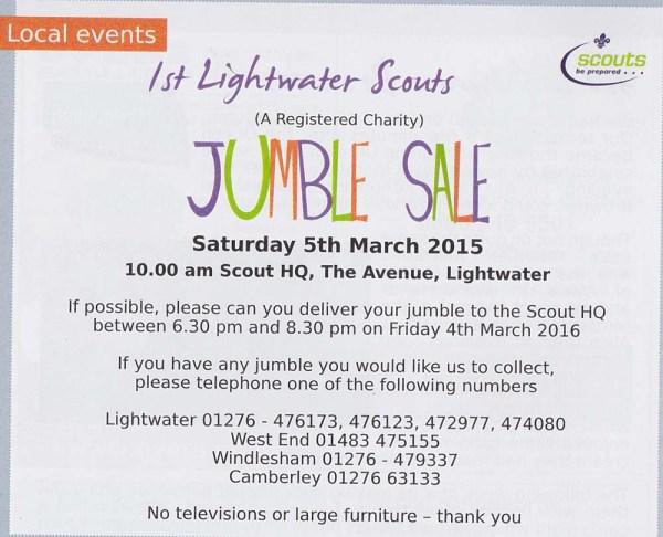 Scouts Jumble Sale