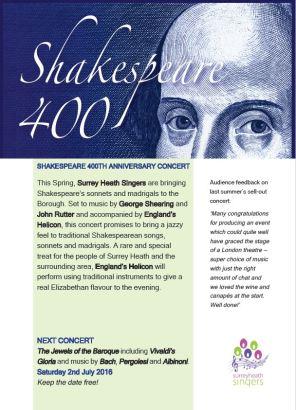 Surrey Heath Singers Shakespeare concert_back