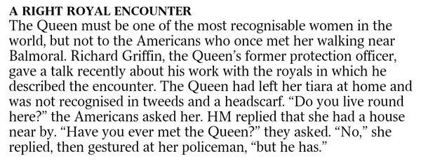 A Queenly annecdaote