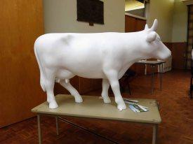 Fibreglass cow