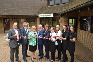 Frimley Lodge Park Cafe opened by the Mayor