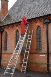 Spring cleaning All Saints' Church