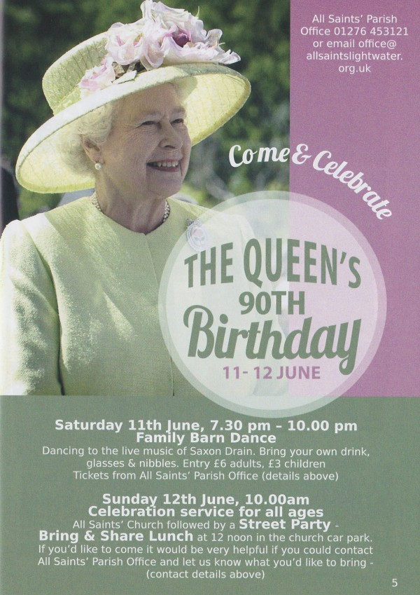 Queen's Birthday festival in Lightwater