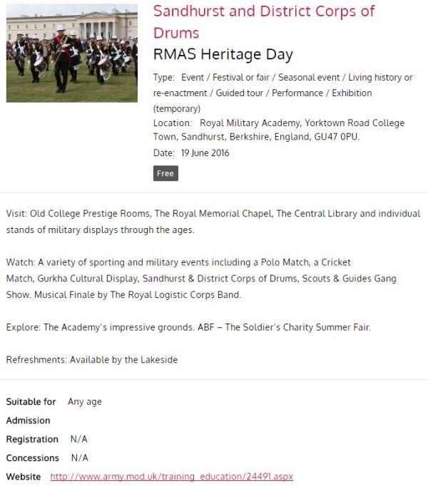 RMAS Heritage Day