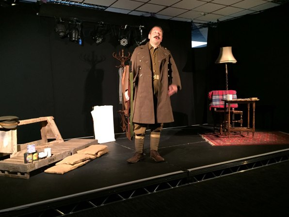 Peter Gill playing 'Tommy Atkins'