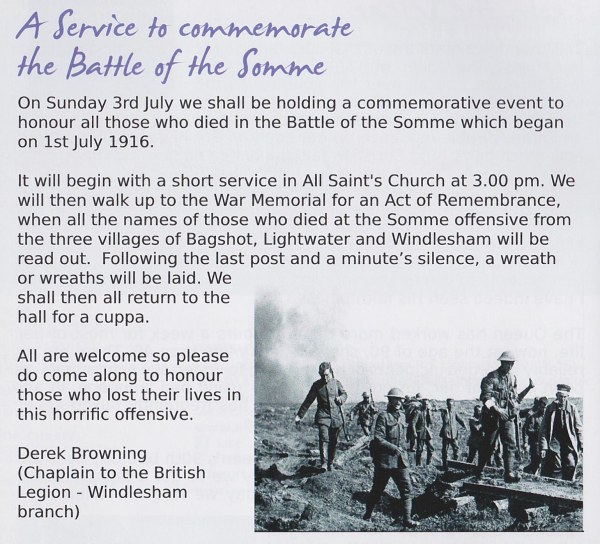 Service for the Somme
