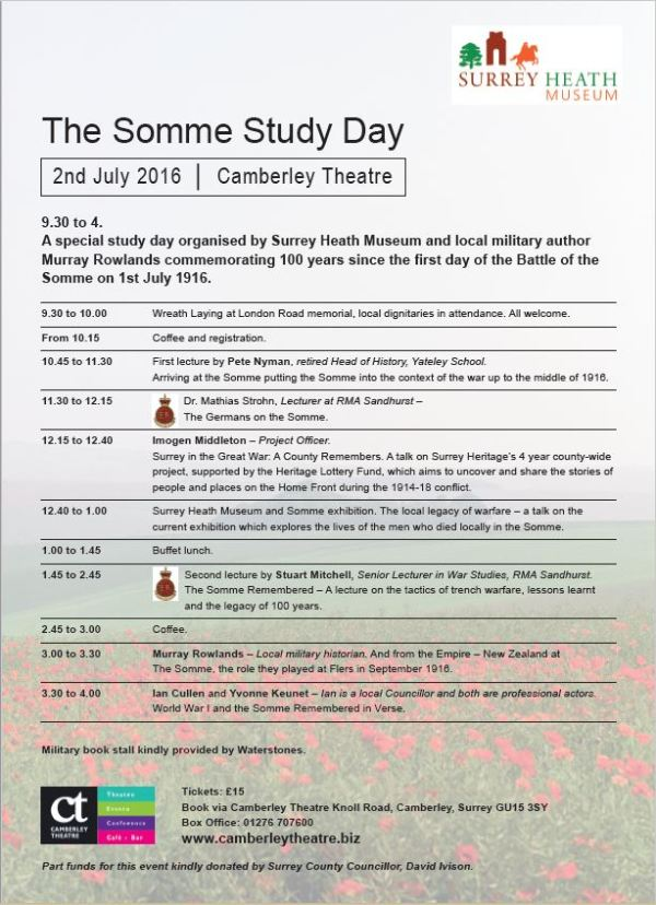 Somme Study Day