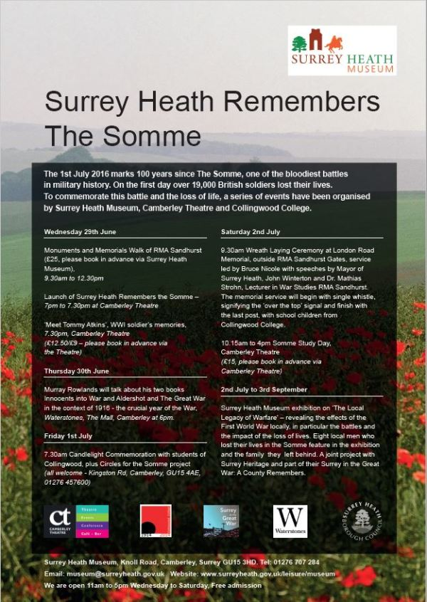 Surrey Heath remembers the Somme