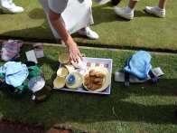 13-Tea and biscuits during the match