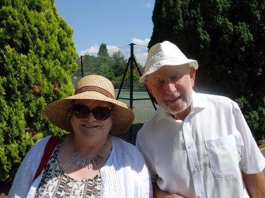 3-Charles Garrett welcomes Surrey Heath Ladies Probus Club President - Madeline Denton